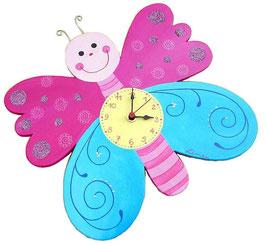 Kinderzimmeruhr  Schmetterling
