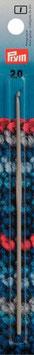 Woll - Häkelnadel o. Griff Alu 532 grau 14cm