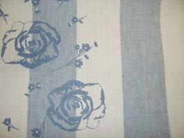 Stickband blaue Blumen 5125-340