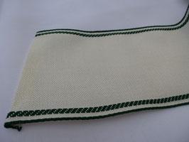 Stickband natur mit grünem Rand 40690077