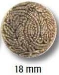 UK-Trachtenknöpfe mit Öse Metalloptik  18mm 35657