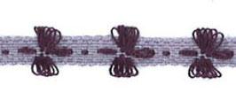 "Borte mit Schleifen ""Demoiselle"" lila Art.Nr.: 6425-7190-008-193"