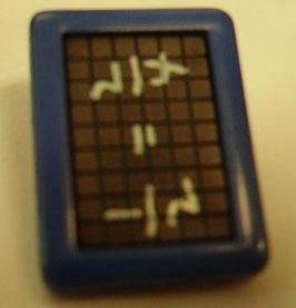 Kinderknopf mit Öse blau Schiefertafel 18mm