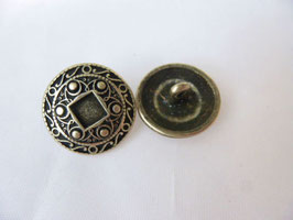 Trachtenknopf  18mm mit Ornament Metall Union Knopf 234217
