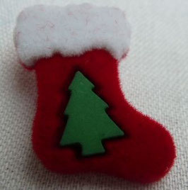 UK Weihnachtsknopf Stiefel/Tanne mit Öse 22 mm 451039