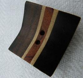 JK Holzknopf 2 Loch eckig 20mm