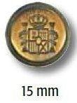 UK-Metallknopf mit Öse 15mm 41263