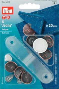 Prym Jeans-Knöpfe 17-20mm nähfrei
