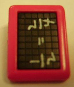 Schultafel rot Knopf mit Öse 19mm kkr9
