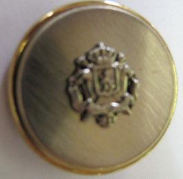 Trachtenknöpfe Metall mit Öse goldener Rand silbernes Wappen 20mm 017