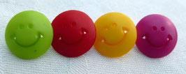 Seco Kinderknopf mit Öse 12mm Motiv Smiley viele Farben