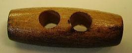 Trachtenknöpfe Holz 2 Loch Knebel hell dunkel 30mm