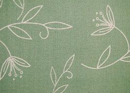Stickband grün weiße Blüten 5112-280