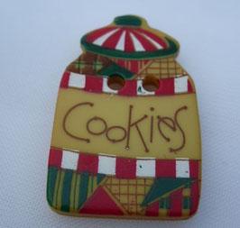 Dill Weihnachtsknopf 2 Loch 25mm Cookies 280781