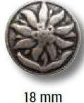 UK Trachtenknöpfe mit Öse 18mm Edelweiss 41437
