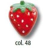 Erdbeere UK-Knopf mit Öse 21mm 44045