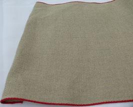 Leinenband mit roter Farbkante 901-300