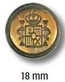 UK-Metallknopf mit Öse 18mm 41263