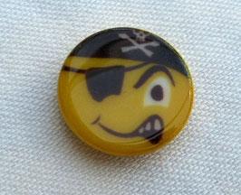 Seco Kinderknopf mit Öse 15mm Motiv Pirat