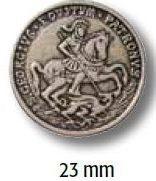 UK-Metallknopf mit Öse 23mm 450689