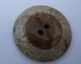 Knopf 2 Loch mit Struktur 25mm kbr52