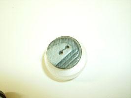 Knopf 2 Loch mit Struktur schwarz grau  18mm kschw19