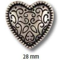 UK-Trachtenknöpfe mit Öse Metall Herz 28mm 38060