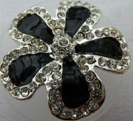UK Strassknopf Blume schwarz ausgegossen 450711