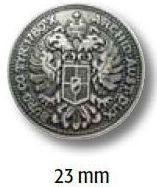 UK-Trachtenknöpfe mit Öse Metall Wappen 23mm 22695
