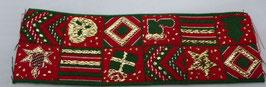 Weihnachtsband rot-grün 50mm