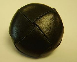 Trachtenknöpfe mit Öse Leder schwarz 18mm