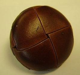 Lederknopf mit Öse dunkelbraun 25mm
