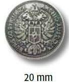 UK-Trachtenknöpfe mit Öse Metall Wappen 20mm 22695
