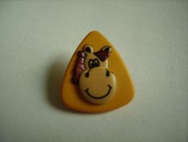 Kinderknopf mit Öse gelb Pferd 20mm