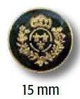 UK-Metallknopf mit Öse 15mm 40897