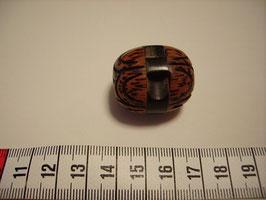 Hornknopf mit Öse Eiform mit Struktur 30mm ak 26