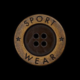 "UK-Metallknopf ""Sportwear"" 4 Loch 18mm 15831"
