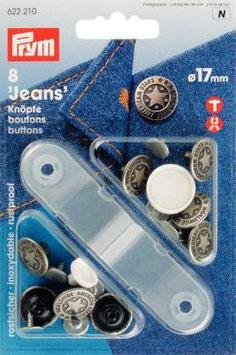 Prym Jeans-Knöpfe 17mm nähfrei