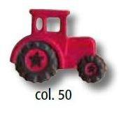 UK-Knopf mit Öse dunkelrot Traktor 23mm 46994