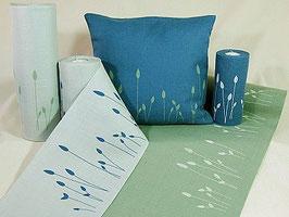 Stickband grün weiße Gräser 5110-340