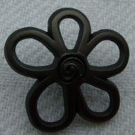 JK Metallknopf mit Öse 22mm Blüte