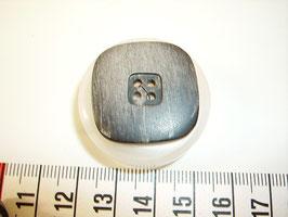Knopf 4 Loch marmoriet schwarz beige 28mm kschw26