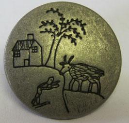Trachtenknöpfe Metall mit Öse Landschaft 25mm
