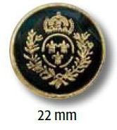 UK-Metallknopf mit Öse 22mm 40897