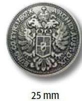 UK-Trachtenknopf mit Öse  Metall Wappen 25mm 22695