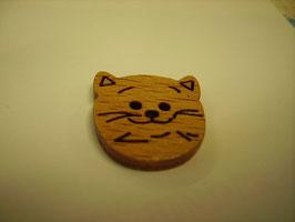 Holzknopf 2 Loch Katzengesicht 18mm