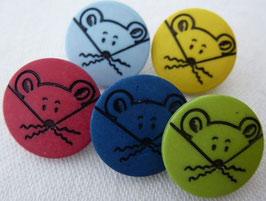 Seco Kinderknopf mit Öse Maus gelb 18mm 09147