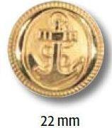UK-Metallknopf mit Öse 22mm 15029