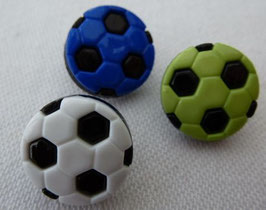 Seco Kinderknopf Fußball mit Öse  15mm 07147