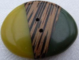 JK Holzknopf oval 2 Loch 40mm